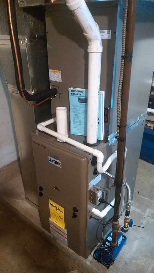 Removal Of An Old Gas Furnace And A C System Installation